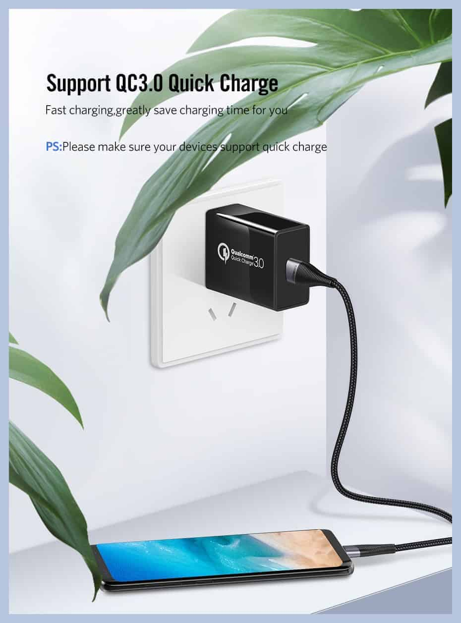 USB-C Ugreen SR Protection-Support QC3.0 Quick Charge