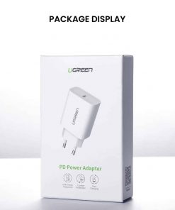 18W USB-C Power Adapter Ugreen for iPhone 11 11 PRo X Xs 8 - package