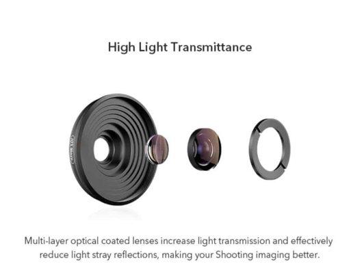 Mobile macro lens APEXEL HD 10X - High Light Transmittance