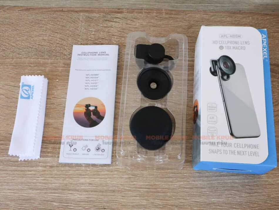 Mobile macro lens APEXEL HD 10X Overview