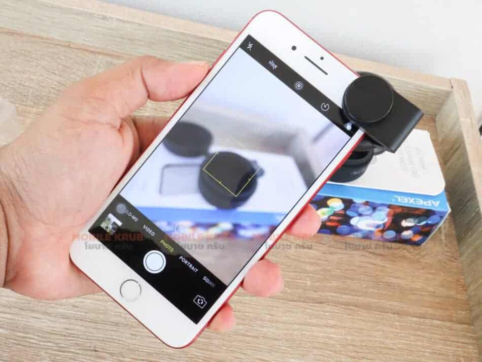 Mobile macro lens APEXEL HD 10X display