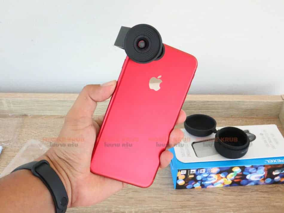Mobile macro lens APEXEL HD 10X ready to use for iPhone 7Plus