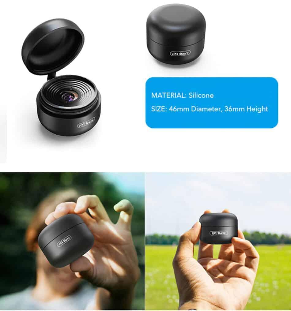 Mobile macro lens APEXEL HD 10X - silicone case