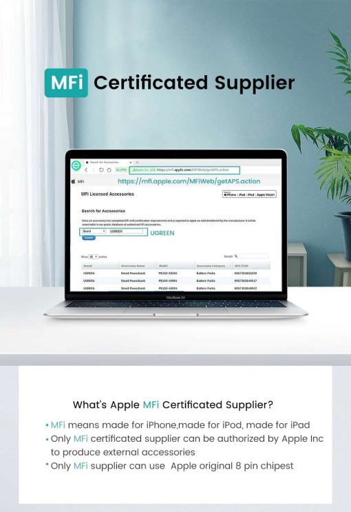 PD Fast USB C To Lightning Cable MFi Certificated Supplier