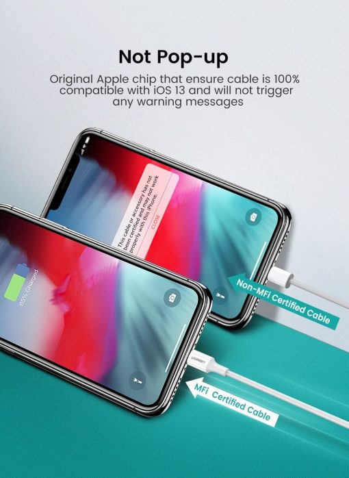PD Fast USB C To Lightning Cable Not Pop-up