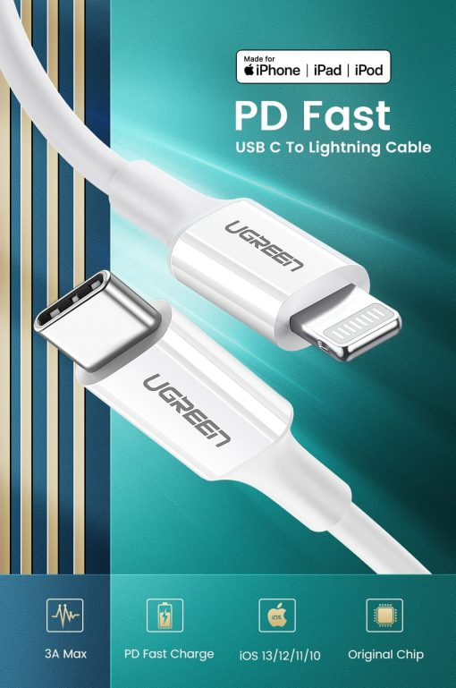 PD Fast USB C To Lightning Cable Overview