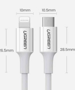 PD Fast USB C To Lightning Cable Product specification2