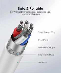 PD Fast USB C To Lightning Cable Safe & Reliable
