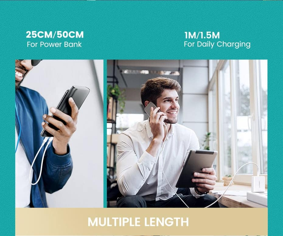 PD Fast USB C To Lightning Cable multiple length