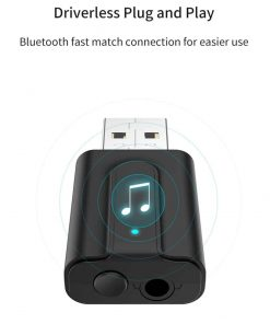Bluetooth 5.0 car Audio Receiver Transmitter driverless plug and play