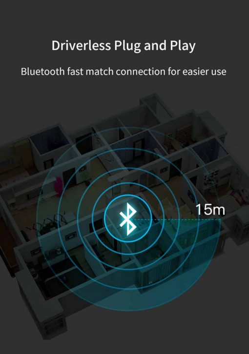 Bluetooth 5.0 car Audio Receiver Transmitter fast match connection for easier use