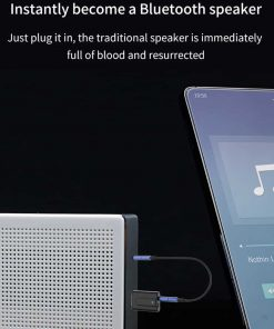 Bluetooth 5.0 car Audio Receiver Transmitter instantly become a bluetooth speaker