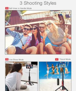 bluetooth Selfie Stick Monopod Tripod Integrated Detachable Tripods Selfie Sticks for phone BlitzWolf BW-BS10 3 Shooting Styles