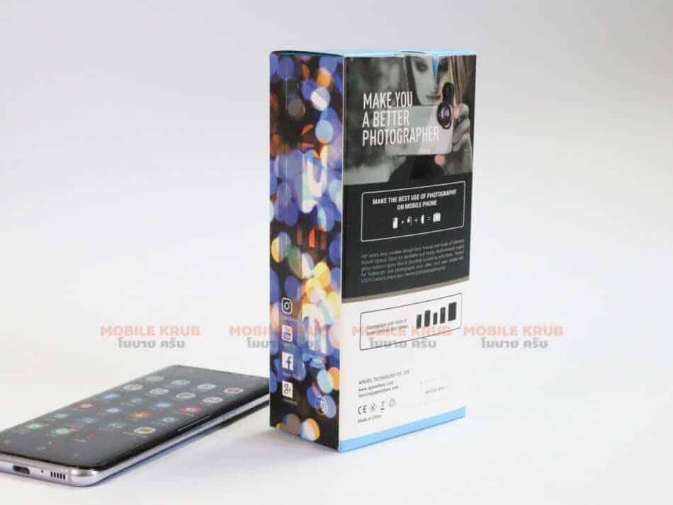 APEXEL HD optic camera phone lens 100mm macro lens review real Product box back
