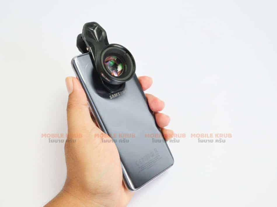 APEXEL HD optic camera phone lens 100mm macro lens review real Product installed