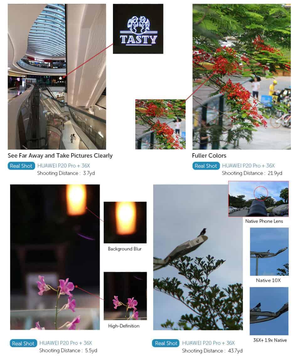 APEXEL optic phone mobile camera lens 36x telephoto Real shot