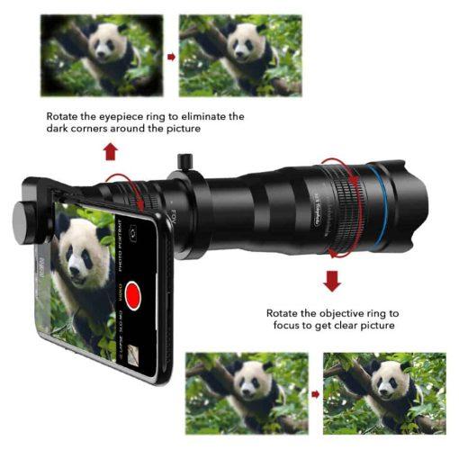 APEXEL optic phone mobile camera lens 36x telephoto focus to get
