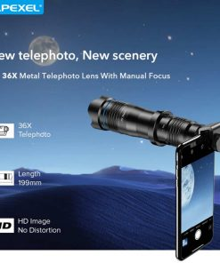 APEXEL optic phone mobile camera lens 36x telephoto overview