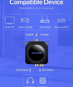 Unnlink New Digital to Analog Audio Converter Compatible Device Smart tv Game set top box to headset speaker