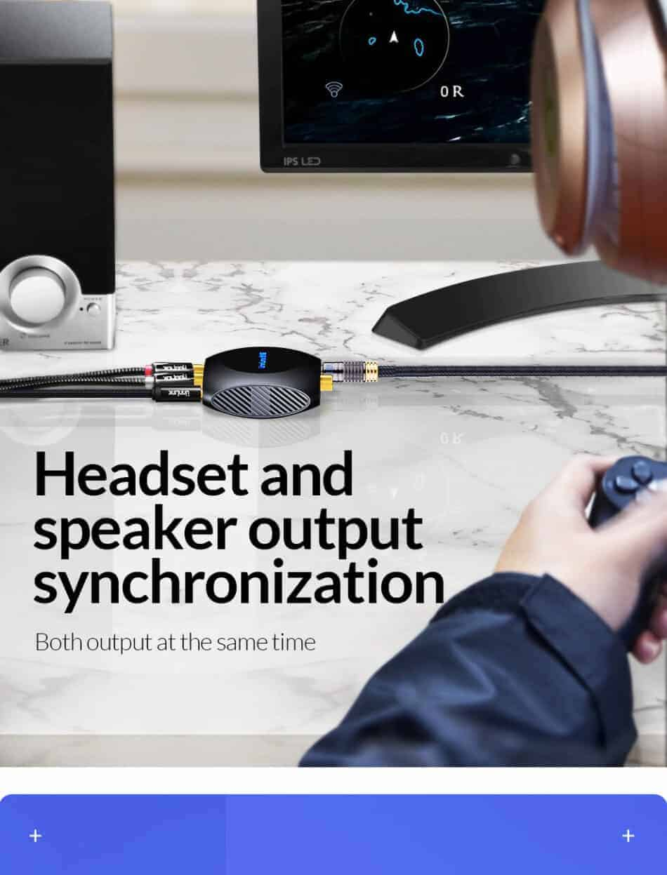 Unnlink New Digital to Analog Audio Converter Headset and speaker out synchronization