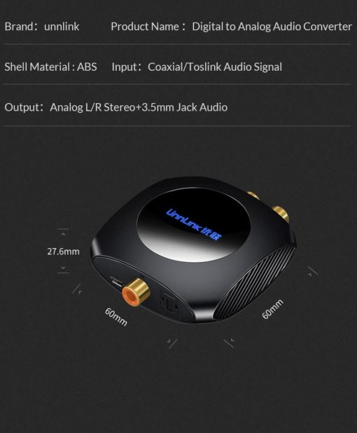 Unnlink New Digital to Analog Audio Converter Specification 2