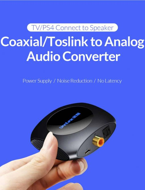 Unnlink New Digital to Analog Audio Converter TV PS4 Connect to Speaker