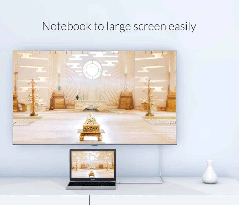 Unnlink USB C to HDMI Cable Notebook to large screen easily