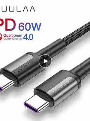 KUULAA USB Type C to USB Type C Cable display 01