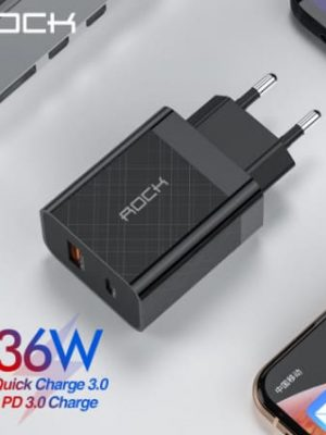 ROCK Quick Charge 4.0 36W QC PD 3.0 Phone Charger_display01
