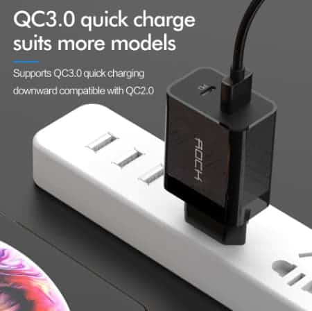 ROCK Quick Charge 4.0 36W QC PD 3.0 Phone Charger_display02