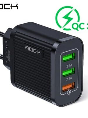 ROCK Quick Charger 3.0 3 USB Charger display_02