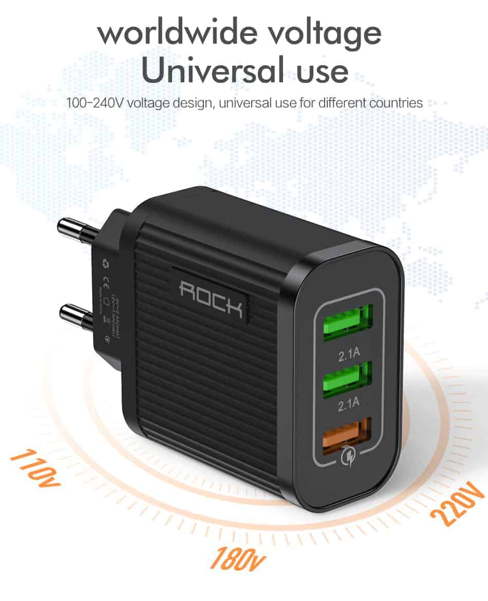 ROCK Quick Charger 3.0 3 USB Charger_07