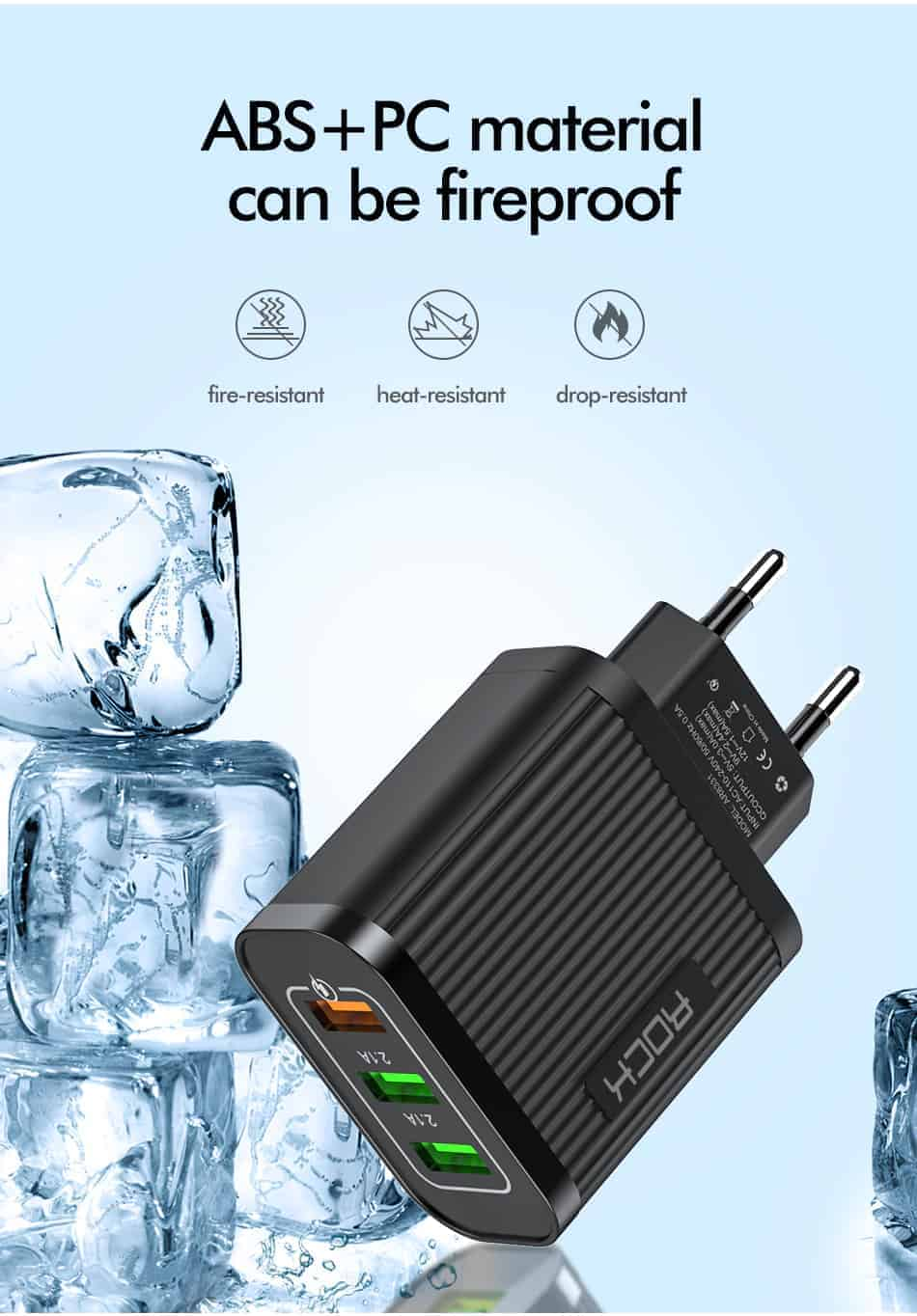 ROCK Quick Charger 3.0 3 USB Charger_08