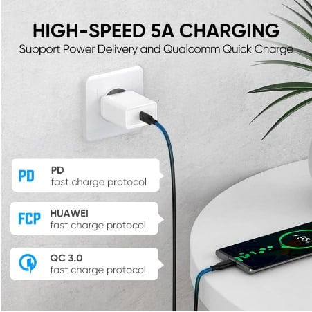 Ugreen 5A 100W USB C To USB C Cable 3.1 Gen 2_display_01