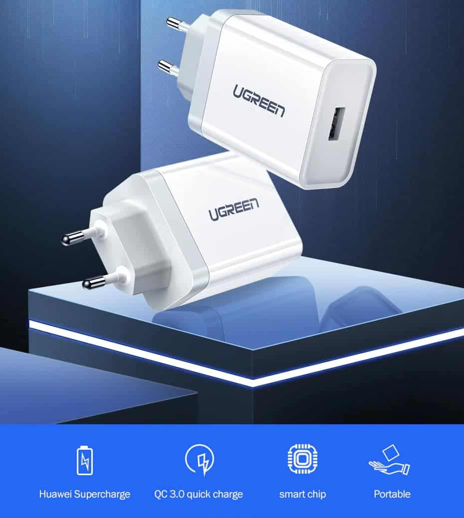 Ugreen USB Charger Super Fast Charger Huawei Supercharge