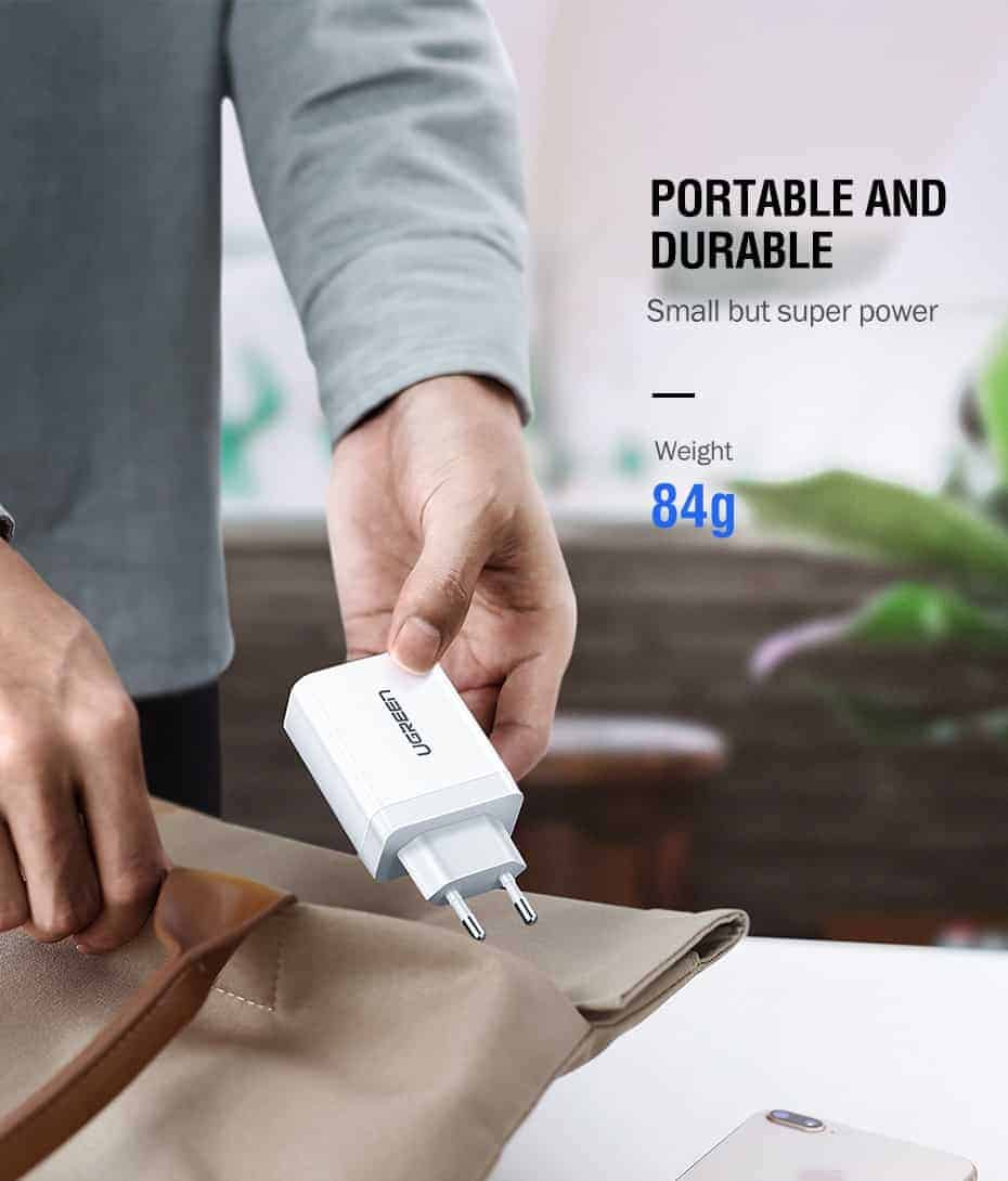 Ugreen USB Charger Super Fast Charger Portable and Durable