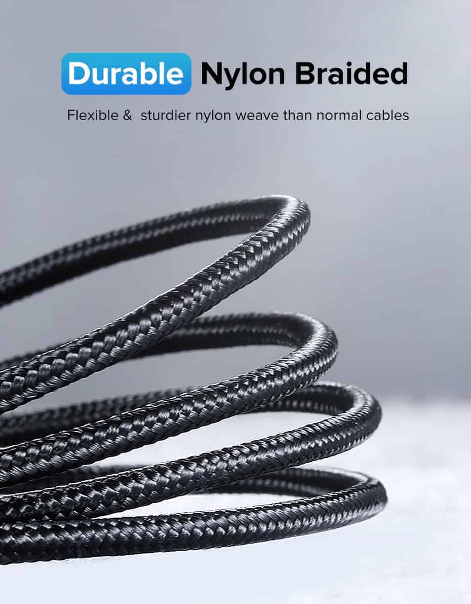 Ugreen USB Type C to USB C Cable Durable Nylon Braided