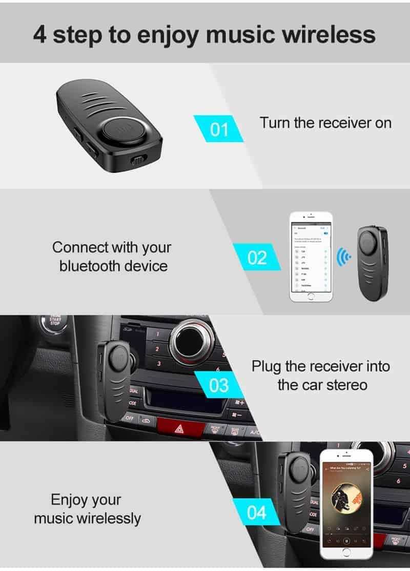 Bluetooth 5.0 Audio Receiver VIKEFON 4 step