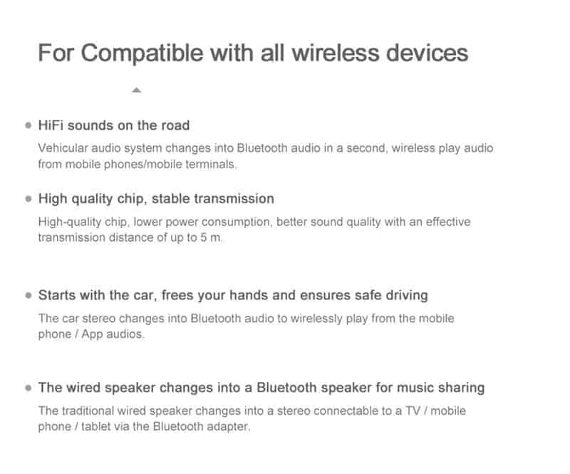 Bluetooth 5.0 Audio Receiver VIKEFON Compatible with all wireless devices