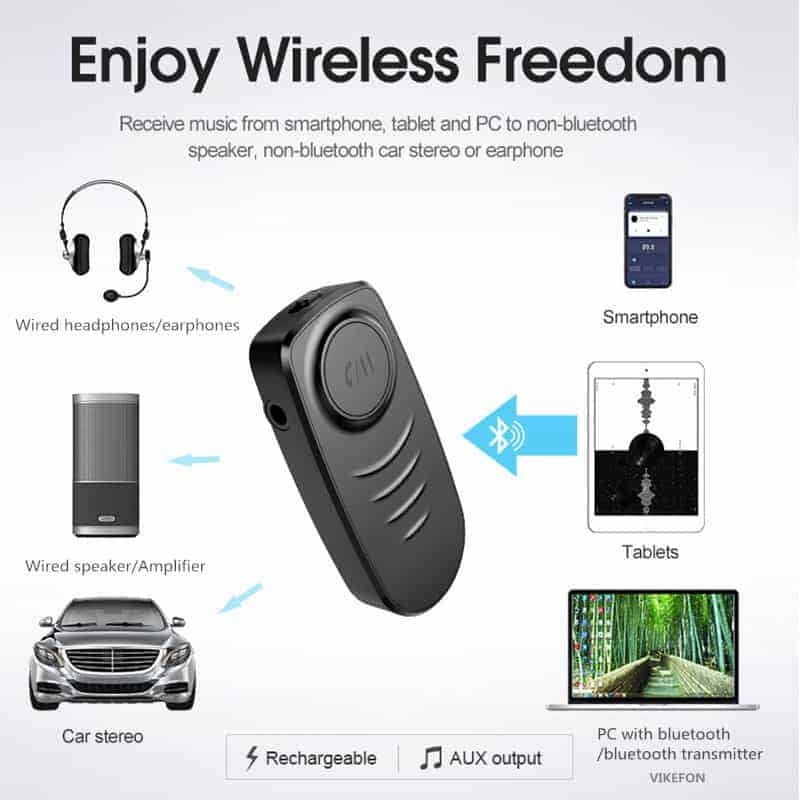 Bluetooth 5.0 Audio Receiver VIKEFON Enjoy Wireless Freedom