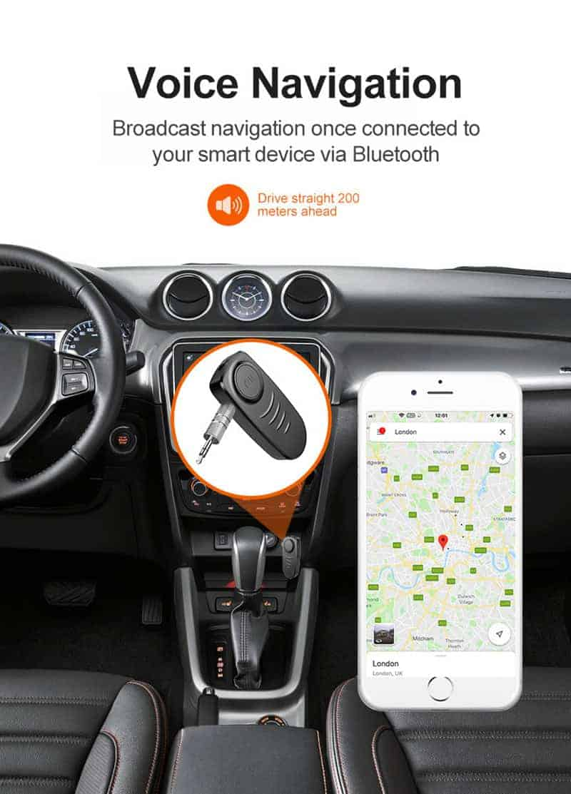 Bluetooth 5.0 Audio Receiver VIKEFON Voice navigation