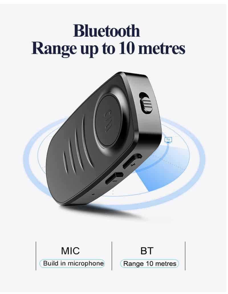 Bluetooth 5.0 Audio Receiver VIKEFON range up to 10 metres