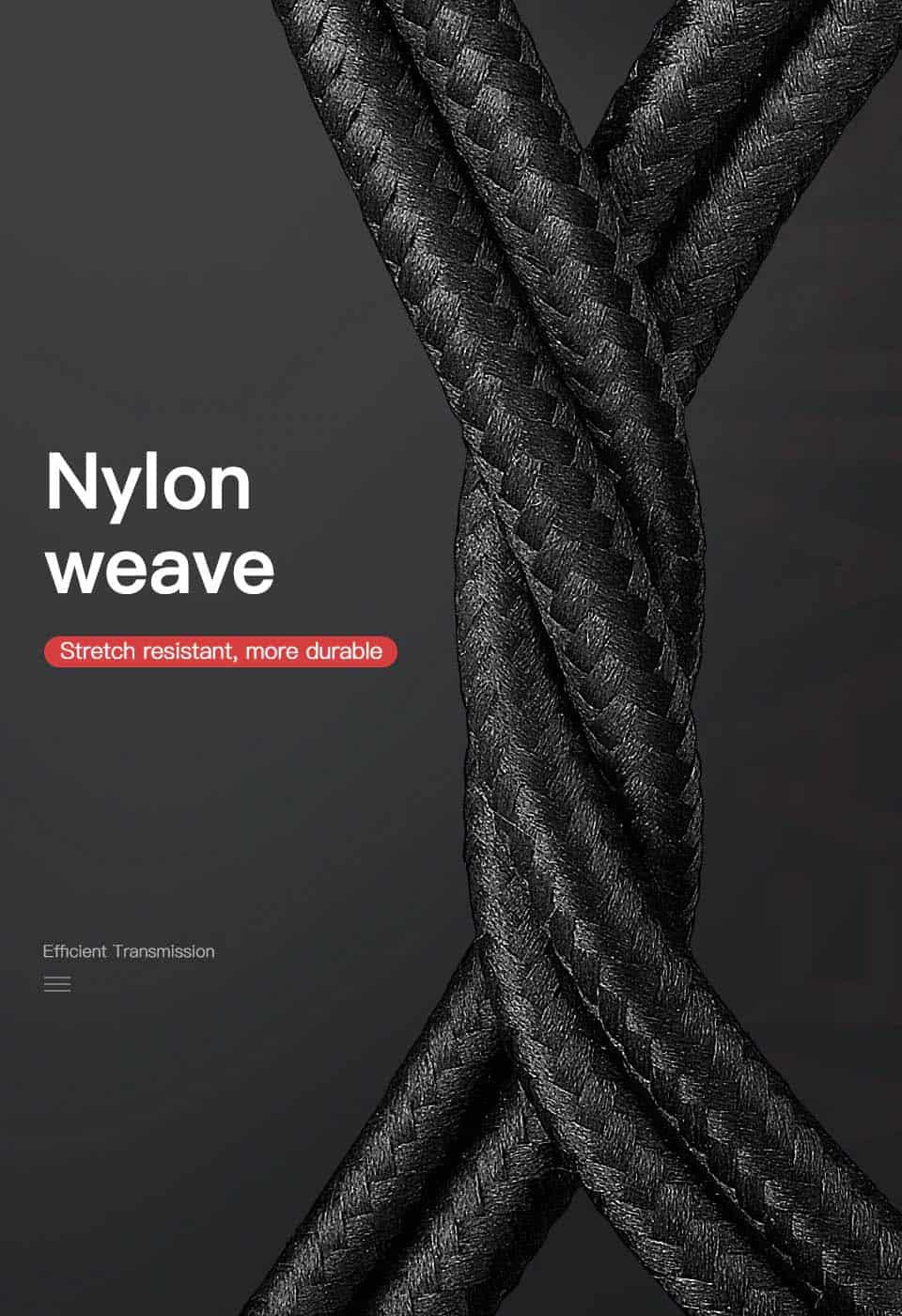 KUULAA 3 in 1 USB Cable Nylon Weave
