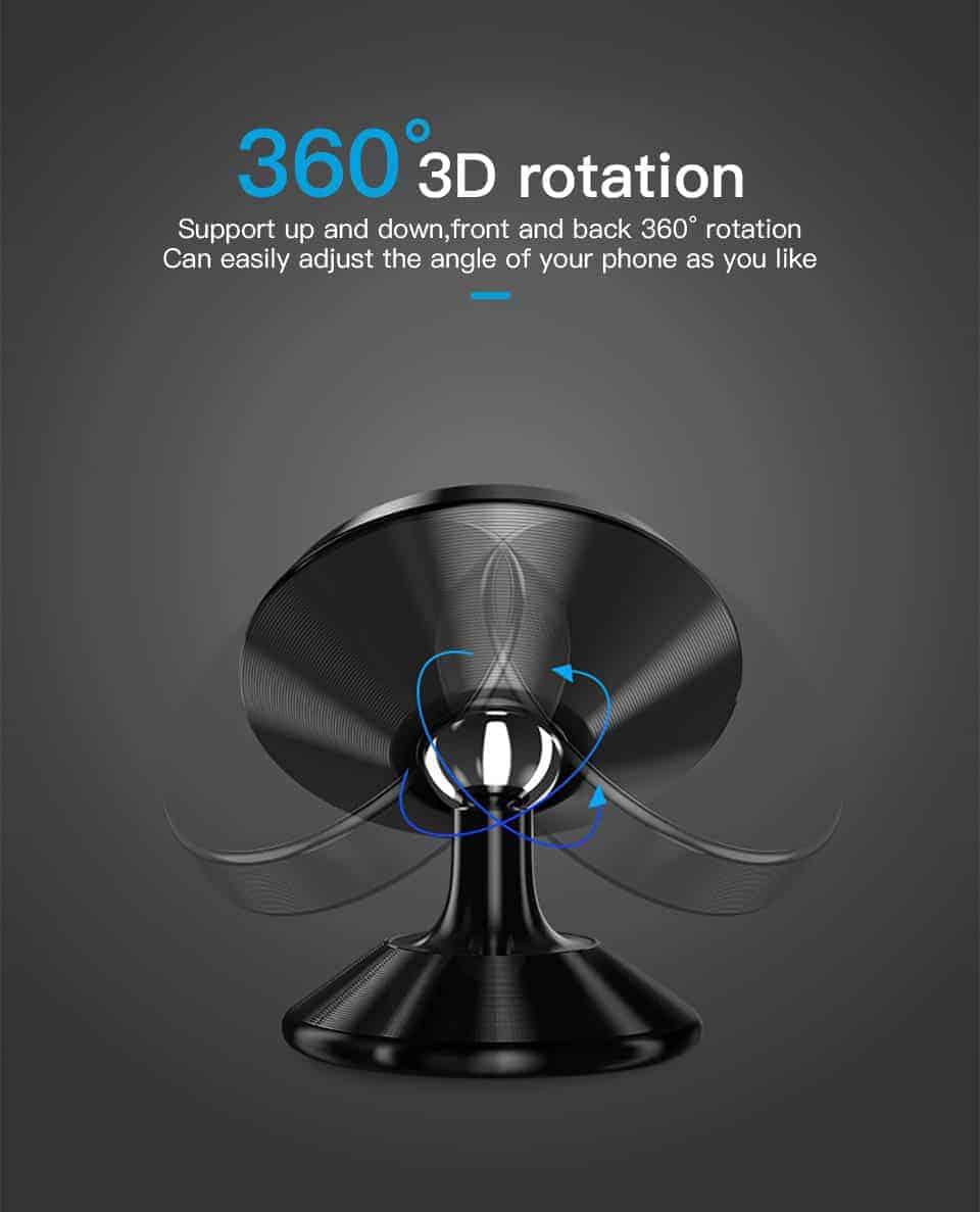 KUULAA Car Phone Holder Magnetic 360 3D rotation
