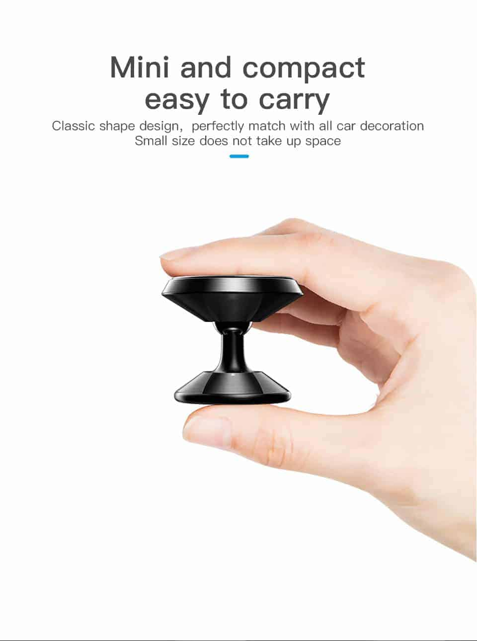 KUULAA Car Phone Holder Magnetic mini and compact easy to carry