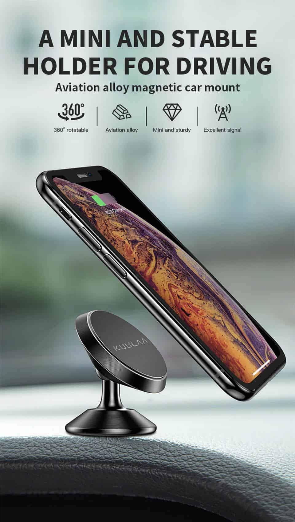 KUULAA Car Phone Holder Magnetic mini and stable