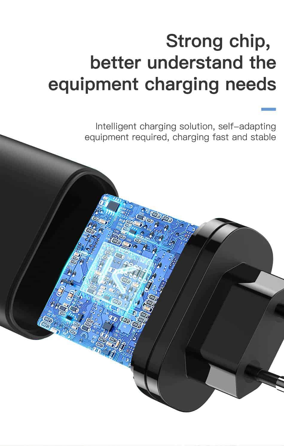 KUULAA Quick Charge 3.0 USB Charger 30W QC3.0 QC Fast Charging Stroong Chip better