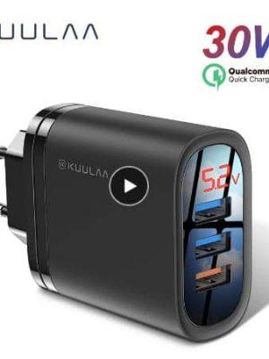 KUULAA Quick Charge 3.0 USB Charger 30W QC3.0 QC Fast Charging display 01