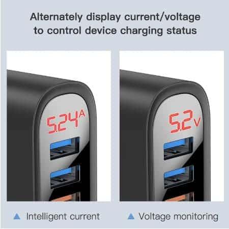 KUULAA Quick Charge 3.0 USB Charger 30W QC3.0 QC Fast Charging display 02