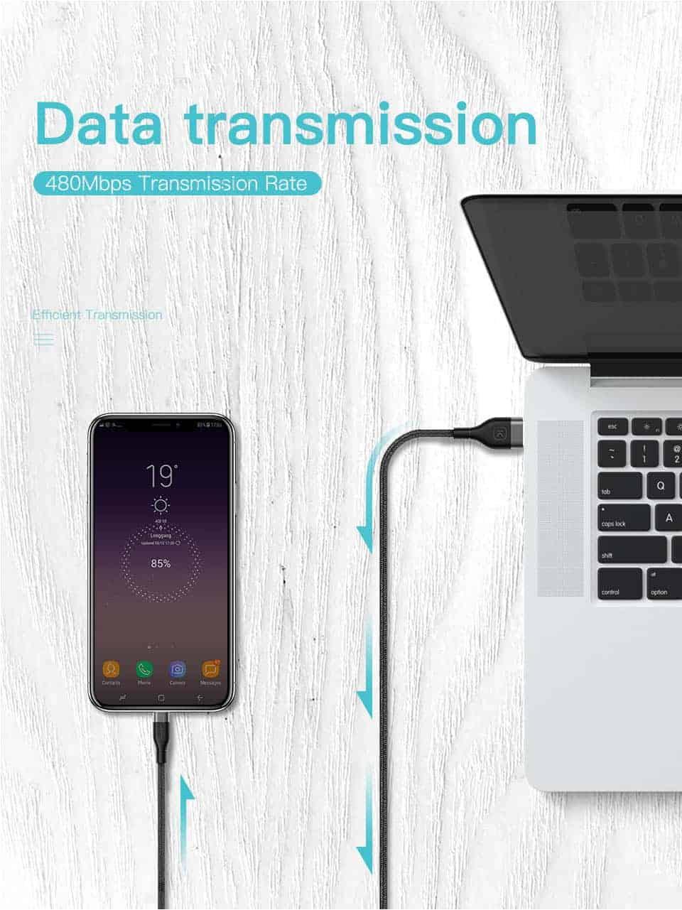 KUULAA USB Type C Cable 3A Data Transmission